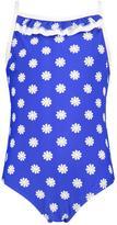 Boohoo Girls Daisy Print Swimming Costume blue
