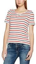 Pieces Women's Pcjila Striped Ss Tee Clw T-Shirt