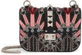 Valentino Garavani Valentino Love Blade Glam Lock shoulder bag - women - Leather/metal/glass - One Size