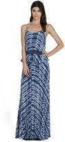 BCBGeneration Pleated Cami Tie-Dye Print Maxi Dress