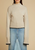 KHAITE The Colette Sweater in Powder
