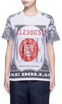 Opening Ceremony 'One' dollar bill print cotton T-shirt