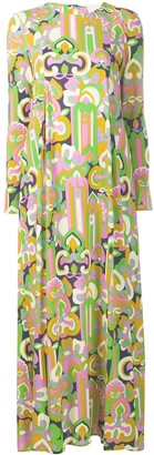 La DoubleJ longsleeved printed maxi dress