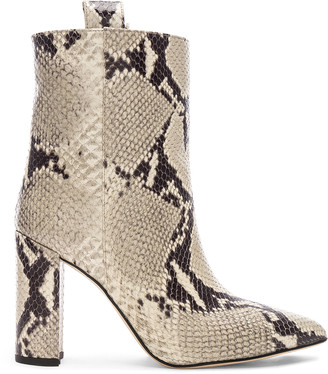 Paris Texas Snake Print Ankle Boot in Natural | FWRD