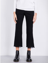 Izzue Flared mid-rise twill trousers