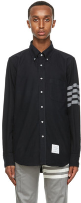Thom Browne Navy Flannel 4-Bar Classic Shirt