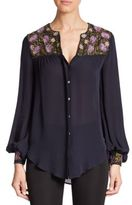 Haute Hippie Silk Button-Down Shirt