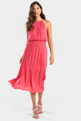 Fawne Textured Flawless Dress - Coral
