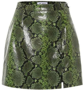 ATTICO Snake-effect leather miniskirt