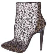 Bottega Veneta Lace Pointed-Toe Ankle Boots