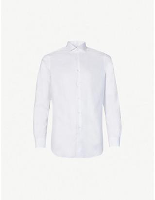 Pal Zileri Houndstooth-pattern regular-fit cotton shirt
