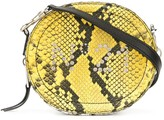 No.21 snakeskin-effect colour-block crossbody bag