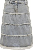 Chaos Theory Casual Gypsy Knee Length Women's Flared Lace Trim A-Line Skirt