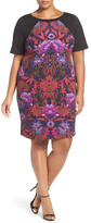 Adrianna Papell Print Colorblock Sheath Dress (Regular, Petite & Plus Size)