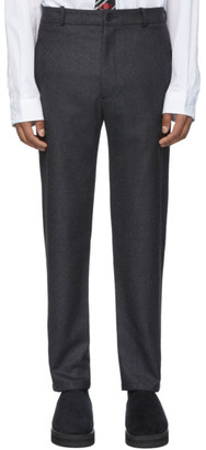 House of the Very Islands Grey Wool Trade Slim-Fit Trousers