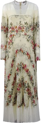 RED Valentino Floral Flounces Printed Muslin Dress
