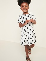 Old Navy Printed Peplum-Hem Swing Dress for Toddler Girls