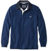L.L. Bean Lakewashed Rugby, Traditional Fit Long-Sleeve Solid