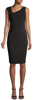 Laundry by Shelli Segal Ruched Asymmetric Sheath Dress