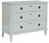 One Kings Lane Adams 3-Drawer Dresser - Cream - frame, cream; hardware, brass