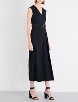 Sportmax Ladies Black Breathable Tarocco Stretch-Wool Jumpsuit
