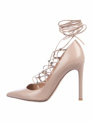 Valentino Rockstud Accents Leather Pumps