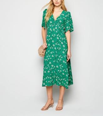 New Look Floral Empire Waist Midi Dress