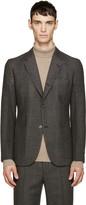 Marc Jacobs Grey Wool Prince of Wales Blazer