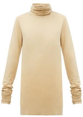 Lemaire Roll-neck Cotton-blend Top - Beige