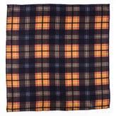 Black Atrani Check Silk Pocket Square