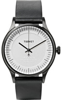 Tsovet Jpt-c036 36mm Stainless Steel And Leather Watch