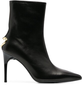 Love Moschino Cut-Out Heart Heel Ankle Boots