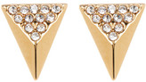 Vince Camuto Pave Crystal Detail Pyramid Earrings