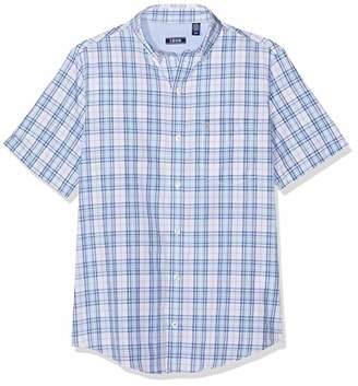 Izod Men's Breeze POPLIN Plaid SS Shirt Casual