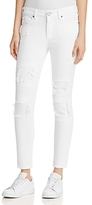 True Religion Halle Super Skinny Crop Jeans in Optic White