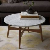 west elm Reeve Mid-Century Coffee Table - Marble