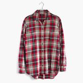 Madewell Flannel Oversized Ex-Boyfriend Shirt in Carl Plaid