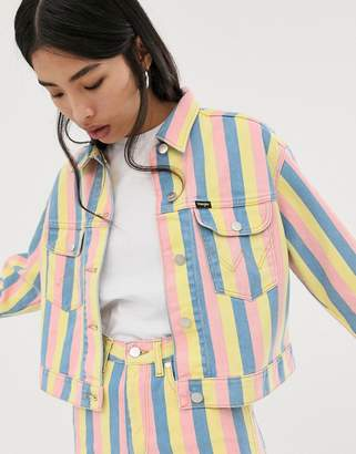 Wrangler candy stripe denim jacket