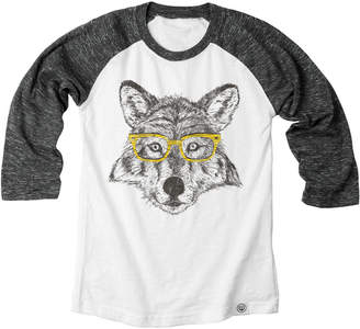 Wes And Willy Wes Willy Wolf Cloudy Yarn Raglan Tee