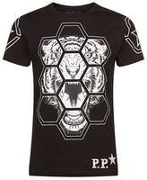 Philipp Plein Swarovski Octagon Tiger T-shirt
