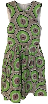 Carven Green Cotton Dresses