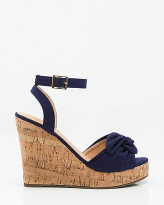 Le Château Knotted Cork Wedge Sandal