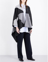 Johnstons Houndstooth cashmere cape