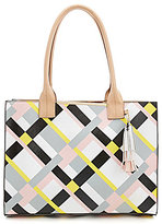 Kate Landry Cabana Plaid Tote