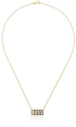 14kt yellow gold Boss plate necklace
