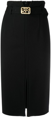 Pinko High-Waist Straight Skirt