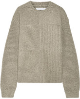 Helmut Lang Ribbed Wool, Yak And Cashmere-blend Sweater - Mushroom