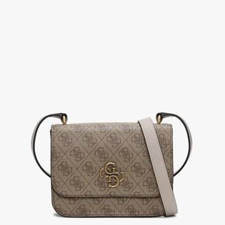 GUESS Mini Noelle Repeat Logo Latte Cross-Body Bag