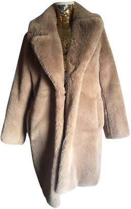 MKT Studio Beige Faux fur Coats