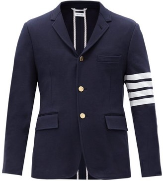 Thom Browne Four-bar Single-breasted Cotton Blazer - Navy